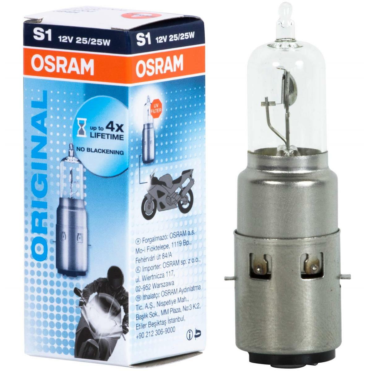 Osram Original Line 12V  Motorradlampe S1 64326 Einzelbox