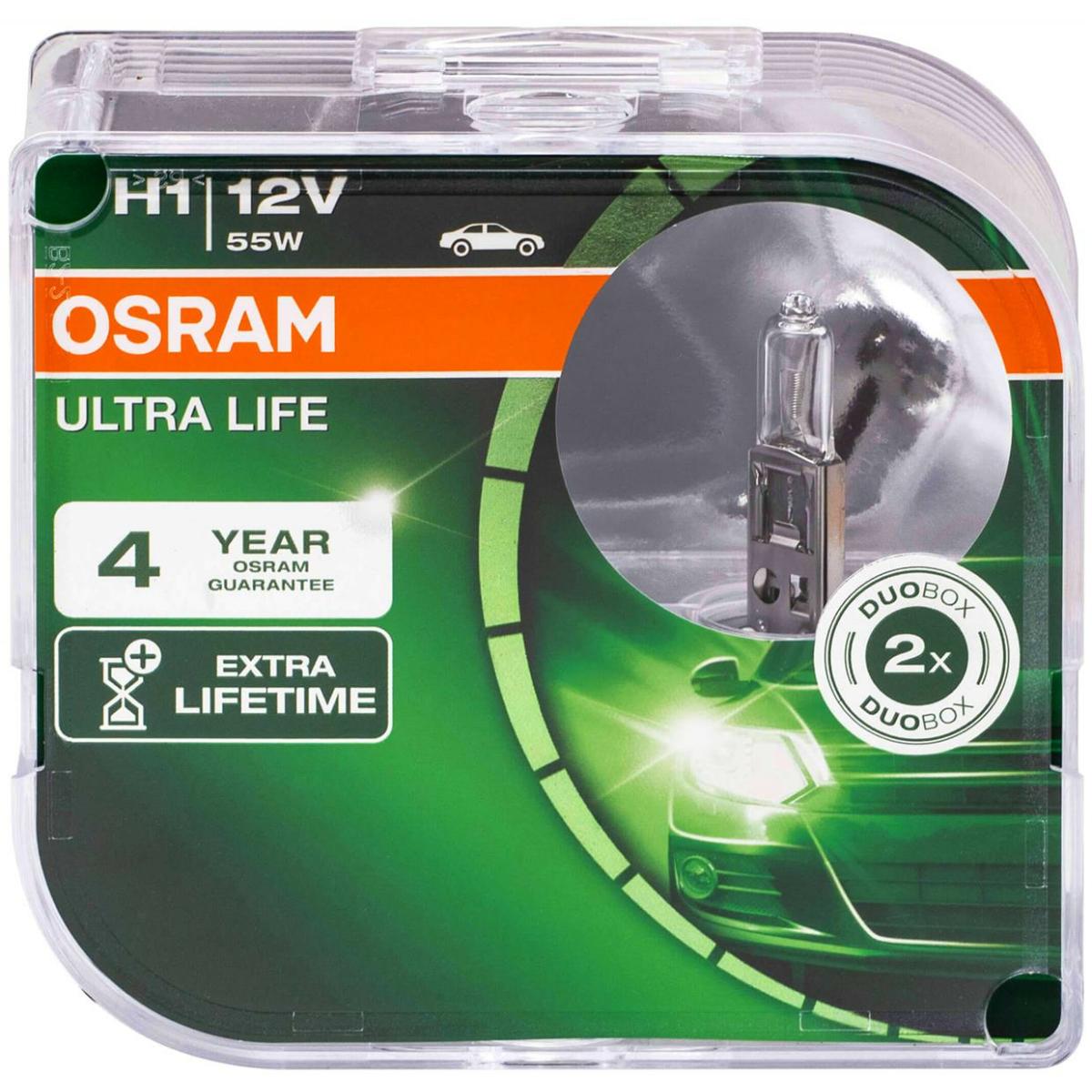 Osram Ultra Life H1 64150ULT-HCB Duo Box car lamp
