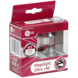 GE General Electric H7 12V 55W Halogen Megalight Ultra +90% 58520SXU  (2 St.)