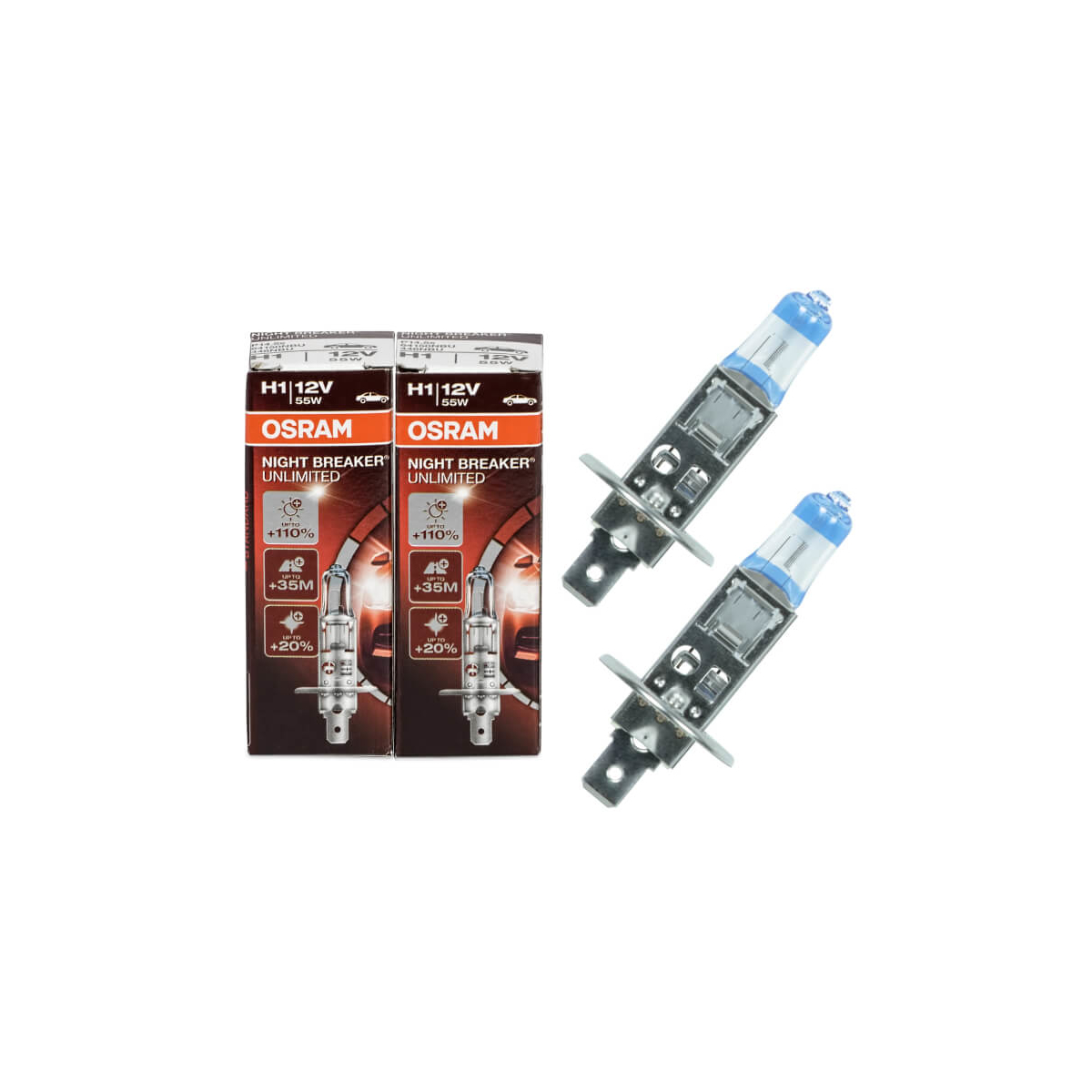 Osram H1 Night Breaker Unlimited 64150NBU Autolampe (2 Stück)
