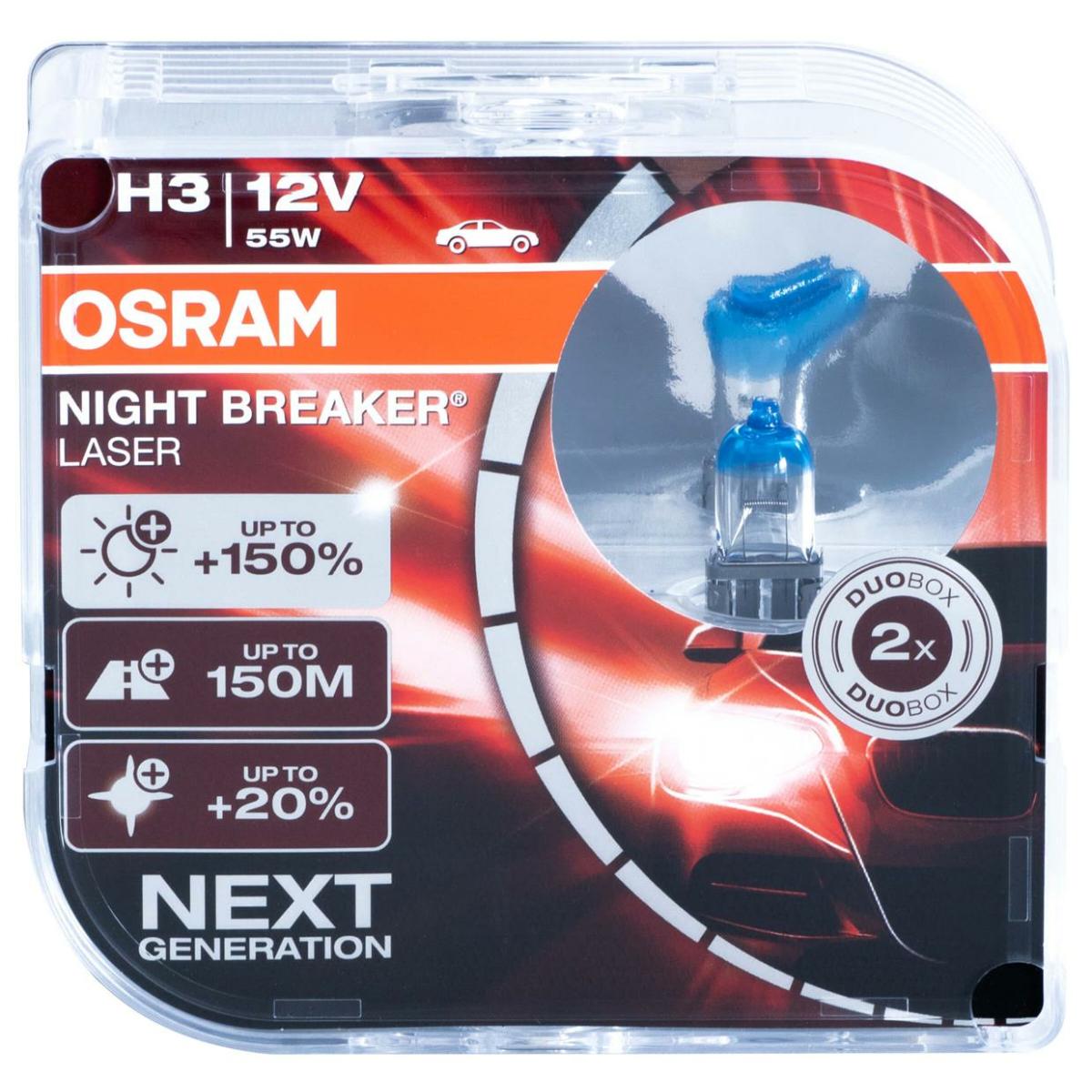 Osram Night Breaker Laser H3 64151NL-HCB 12V 55W Next Gen. (2 pieces)