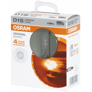 OSRAM XENARC ORIGINAL D1S HID Xenon-Brenner, OEM, 66140-1SCB, Softcover Box (1 Lampe)