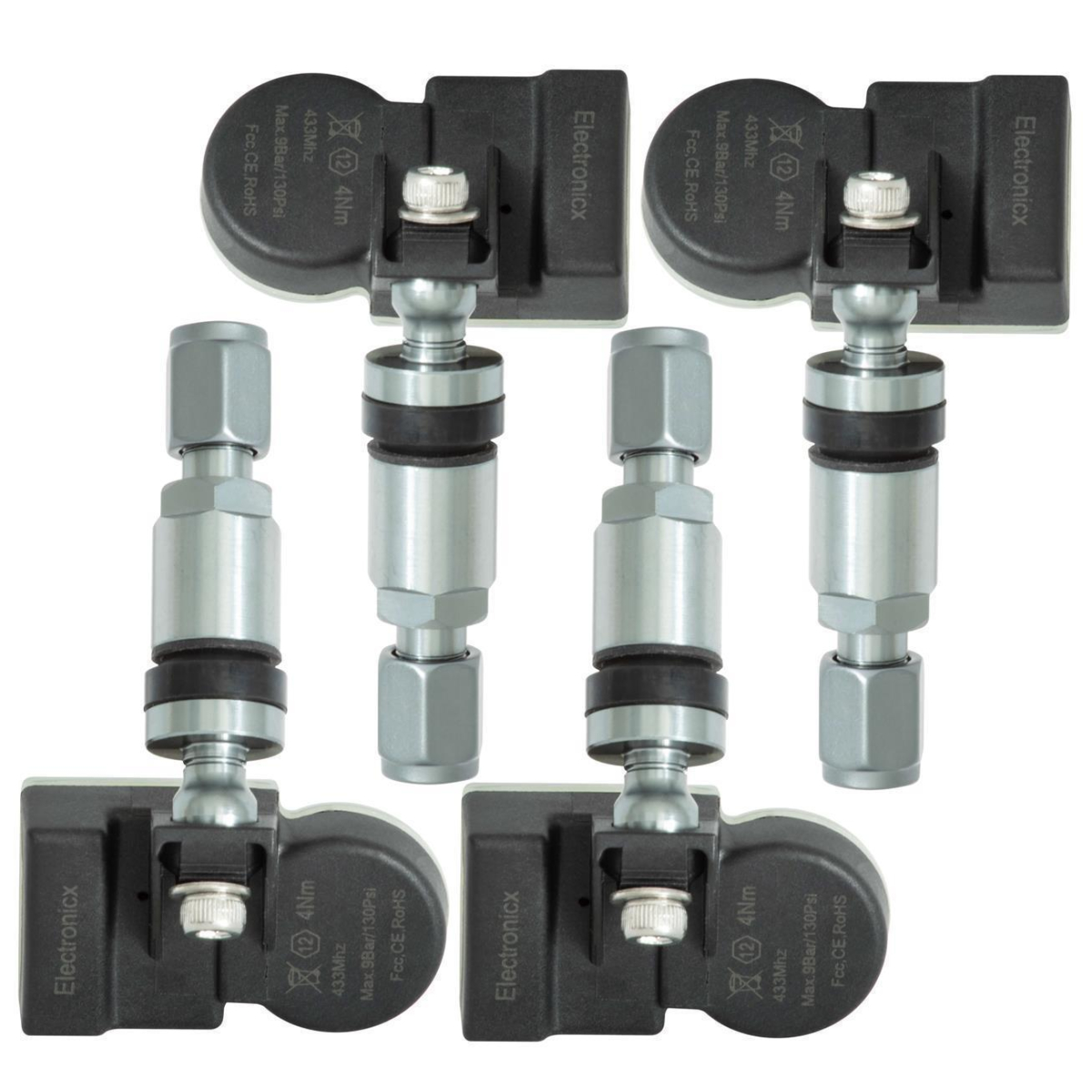Reifendrucksensoren RDKS Sensoren Metallventil Gunmetal für JMC QiLing T7
