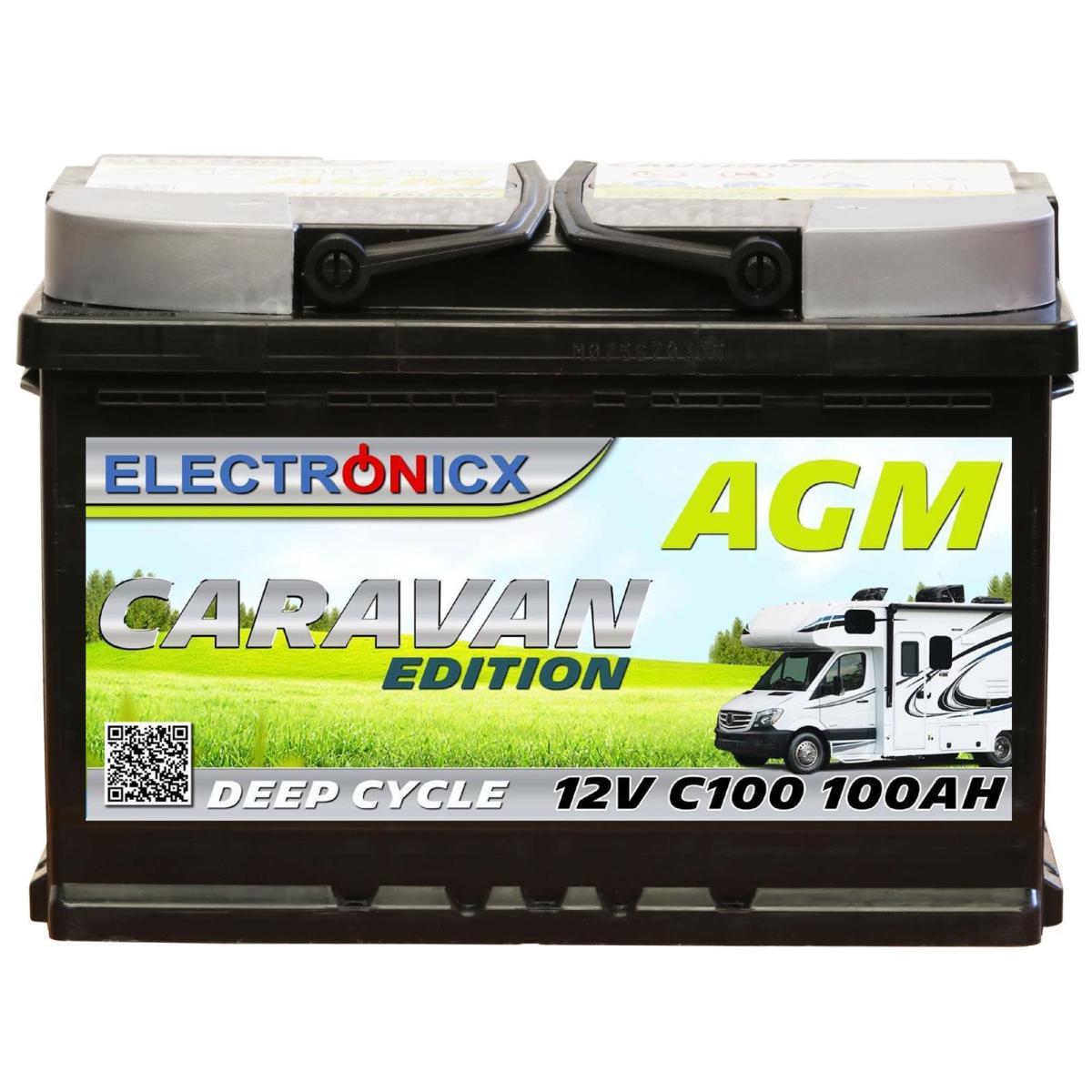 Electronicx Caravan Edition Batterie AGM 100 AH 12V Wohnmobil Boot Versorgung