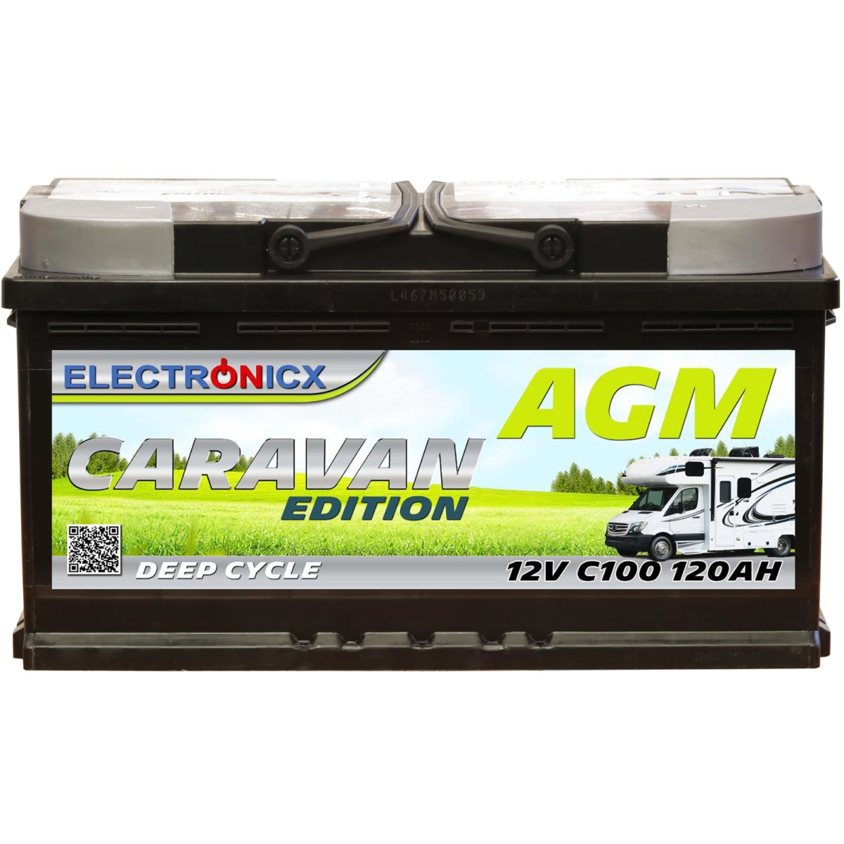 Electronicx Caravan Edition battery agm 120 ah 12v motorhome boat supply