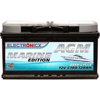 Electronicx Marine Edition Batterie AGM 120 AH 12V Boot...