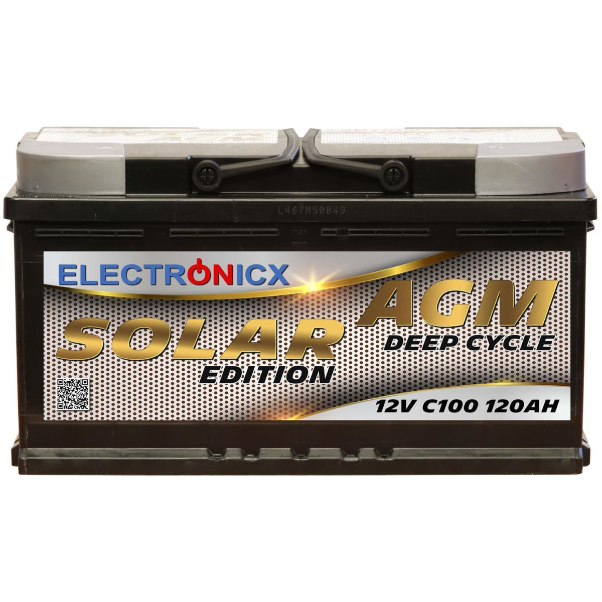 Electronicx solar edition battery agm 120 ah 12v solar supply solar battery