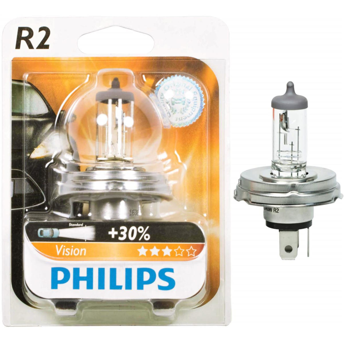 Philips standard lamps R2 Visio 12475B1 12V 45/40W (1 pc. in blister)
