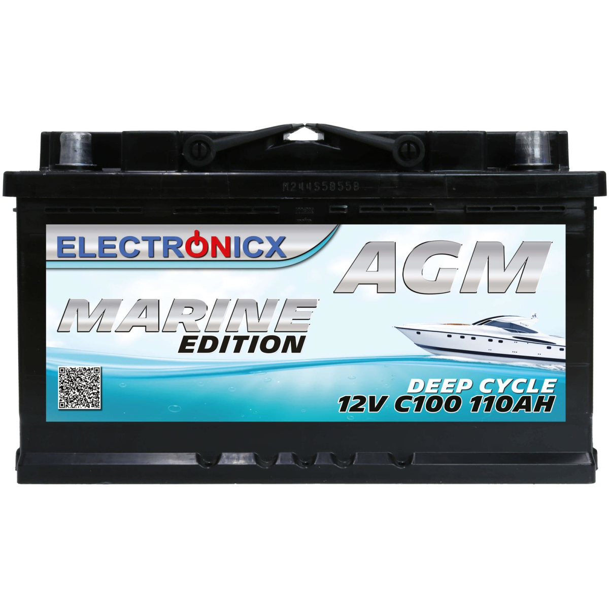 AGM Batterie 110AH Electronicx Marine Edition Boot Schiff Versorgungsbatterie 12V Akku Deep Bootsbatterie Autobatterie Solarbatterie Solar Batterien…