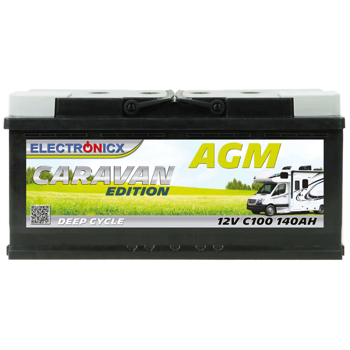 Electronicx Caravan Edition Batterie AGM 140 AH 12V Wohnmobil Boot Versorgung