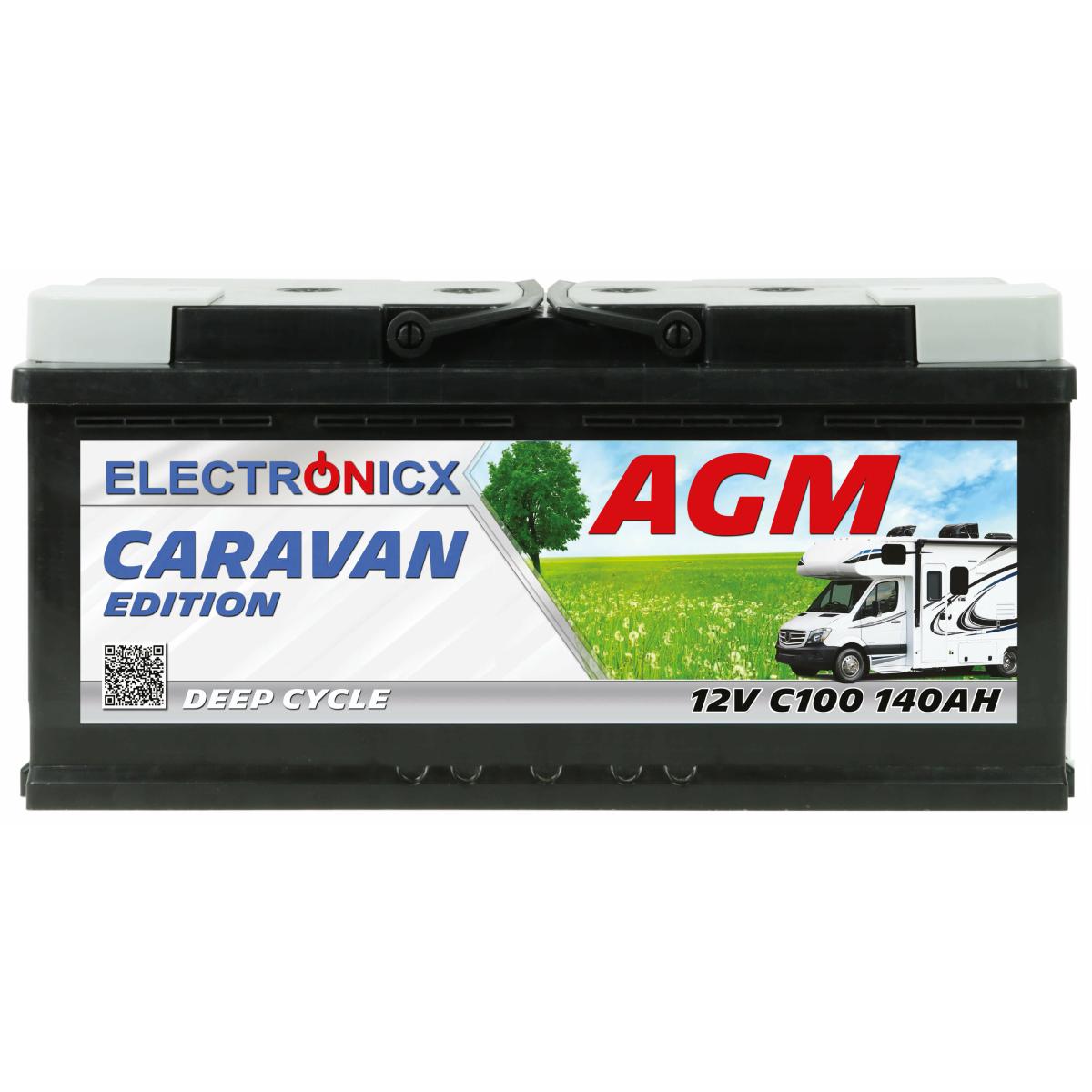 Electronicx Caravan Edition V2 Batterie AGM 140 AH 12V Wohnmobil Boot Versorgung