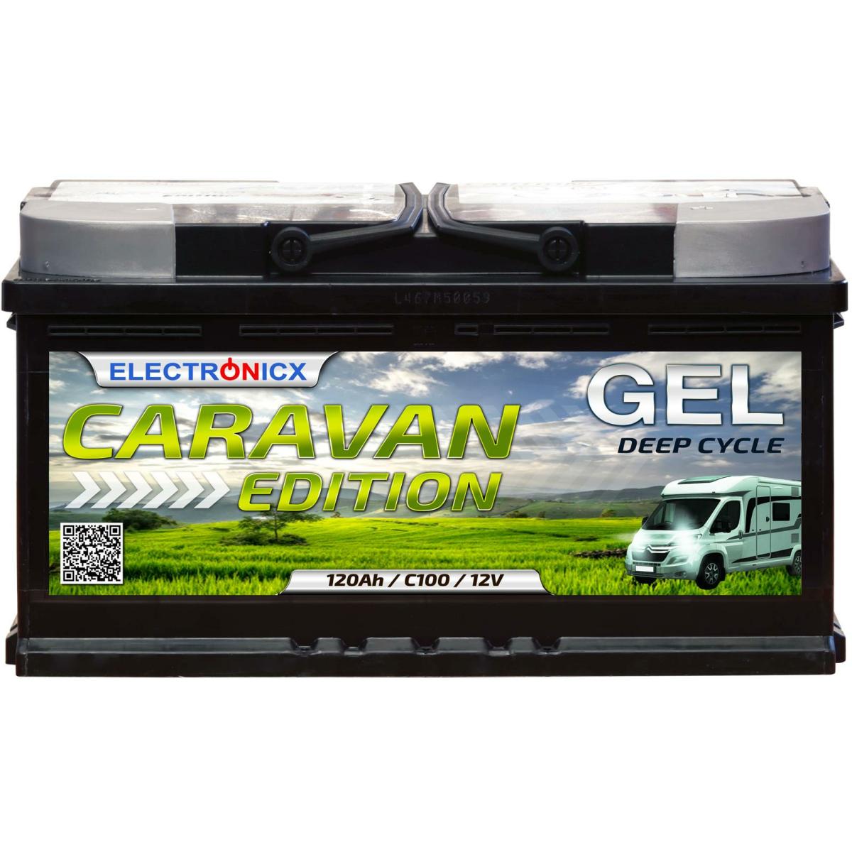 Electronicx Caravan Edition Gel Batterie 120 AH 12V Wohnmobil Boot Versorgung