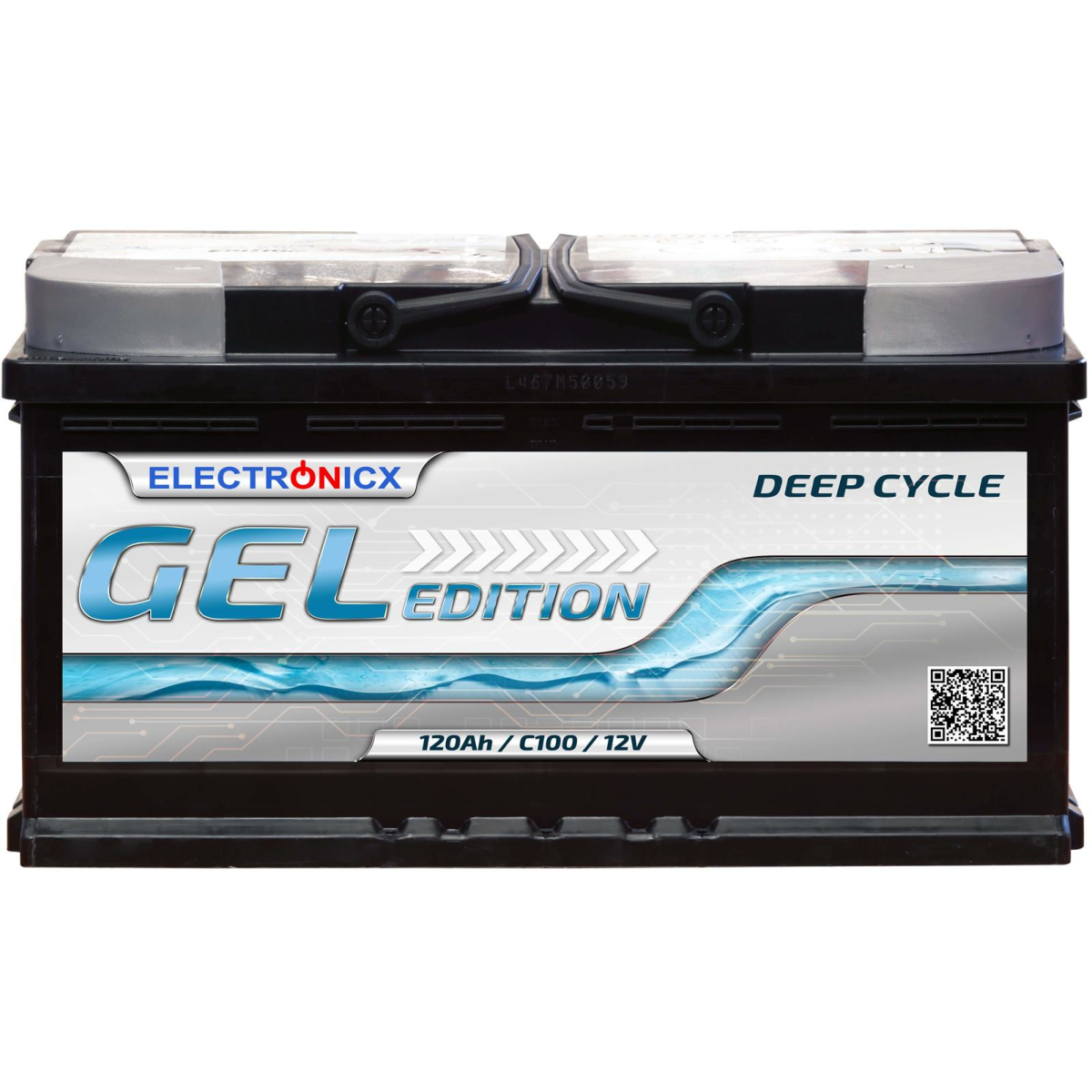 Electronicx Edition Gel Batterie 120 AH 12V Wohnmobil Boot Versorgung