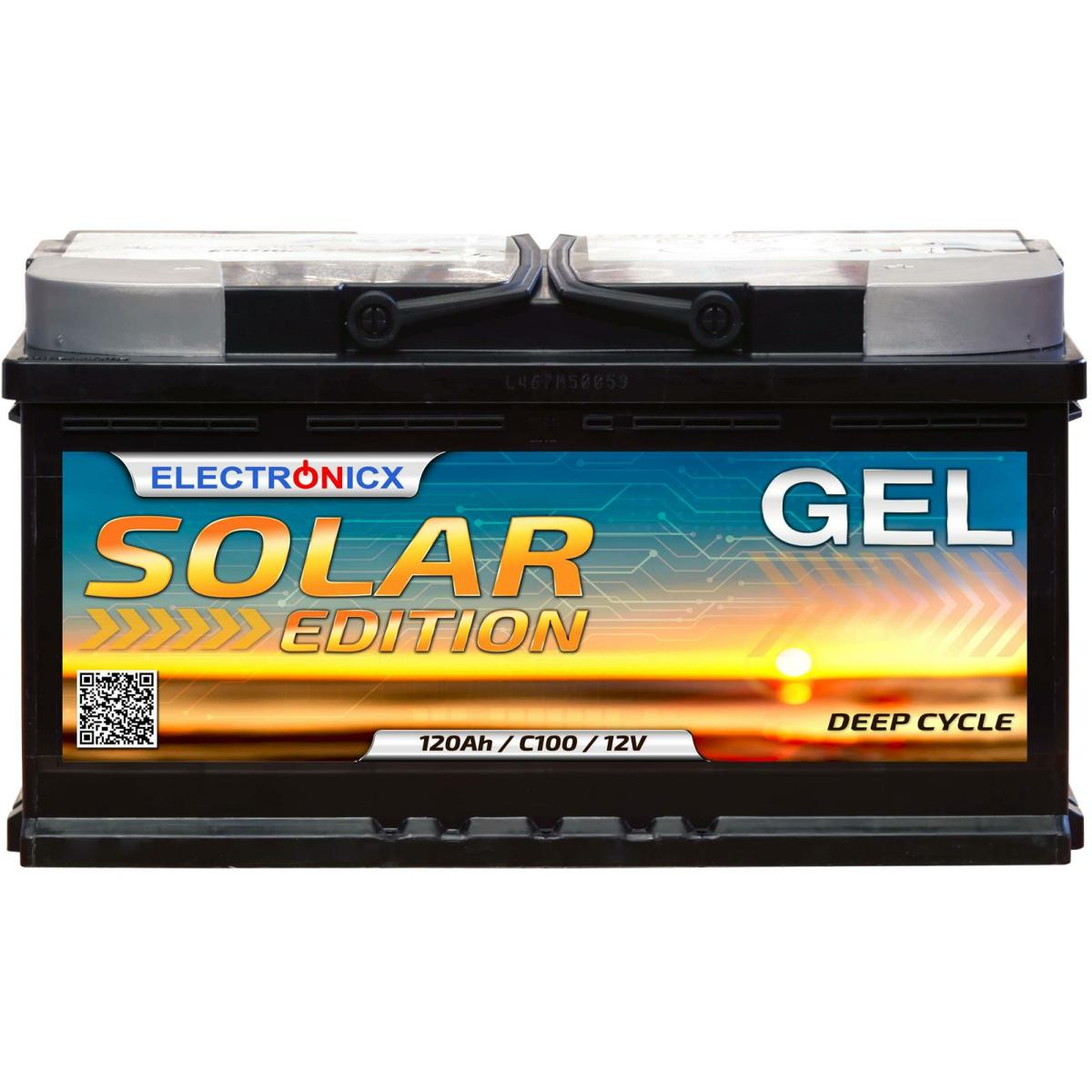 Electronicx Solar Edition Gel Batterie 120 AH 12V Solar Versorgung Solarbatterie