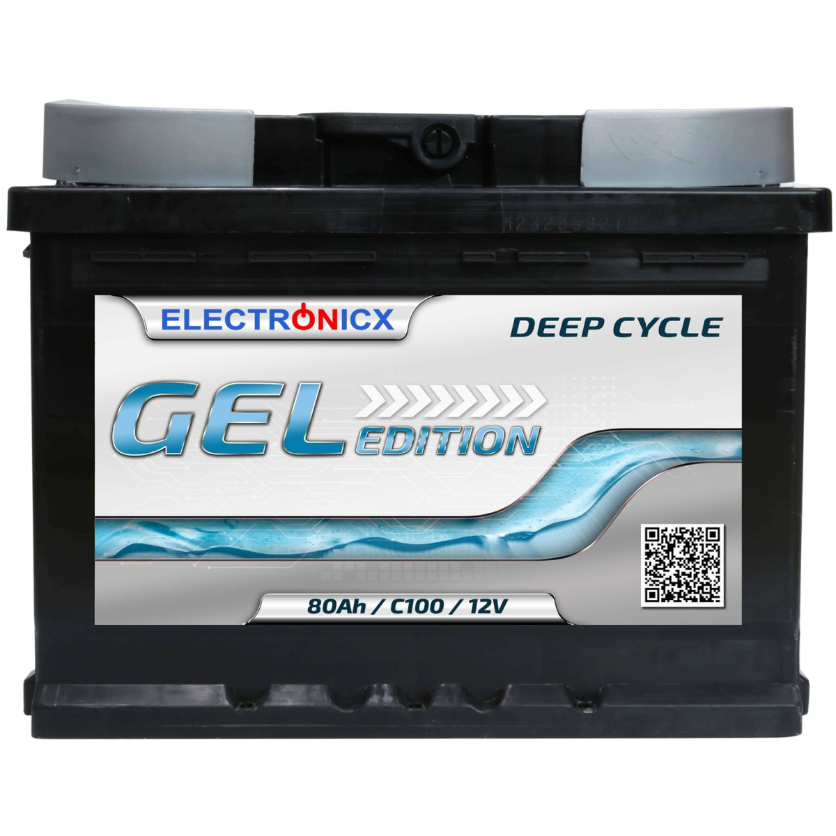 Electronicx Edition Gel Batterie 80 AH 12V Wohnmobil Boot Versorgung