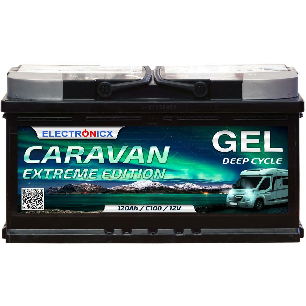 Electronicx Caravan EXTREME Edition Gel Batterie 120 AH 12V Wohnmobil Boot Versorgung