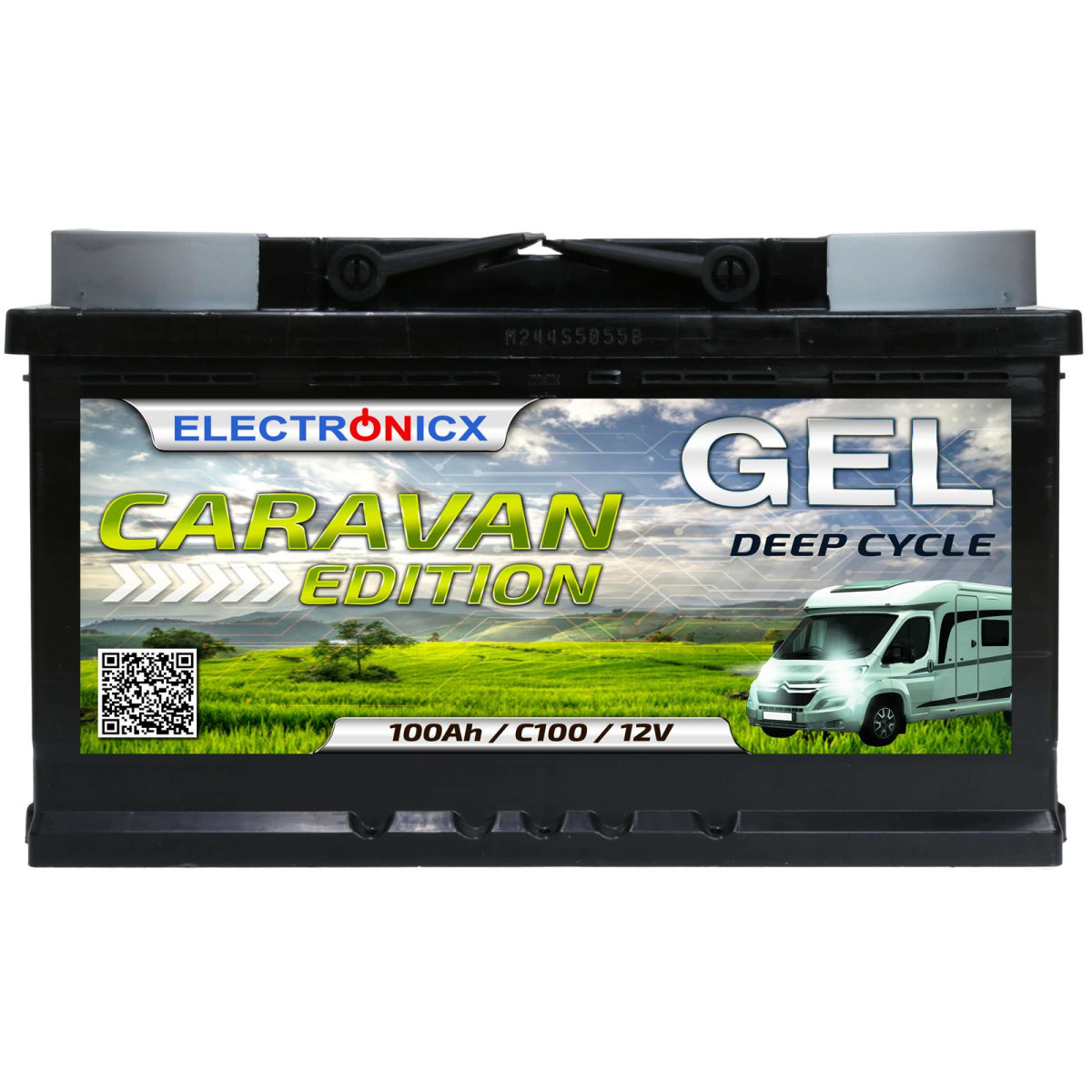 Electronicx Caravan Edition gel battery 100 ah 12v motorhome boat supply