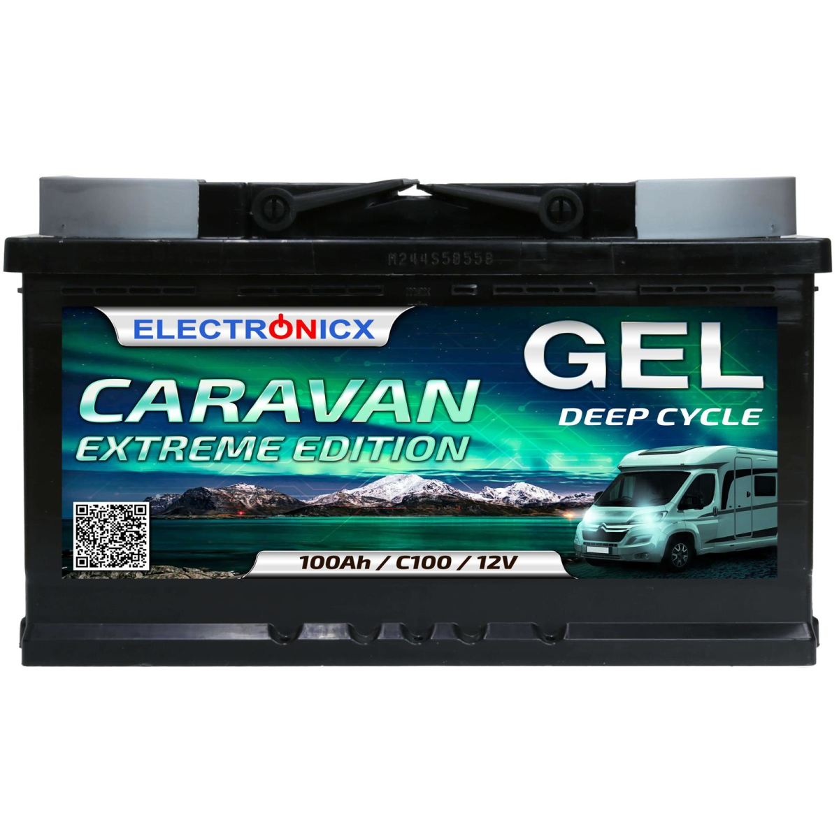 Electronicx Caravan EXTREME Edition GEL Batterie 100 AH 12V Wohnmobil Boot Versorgung
