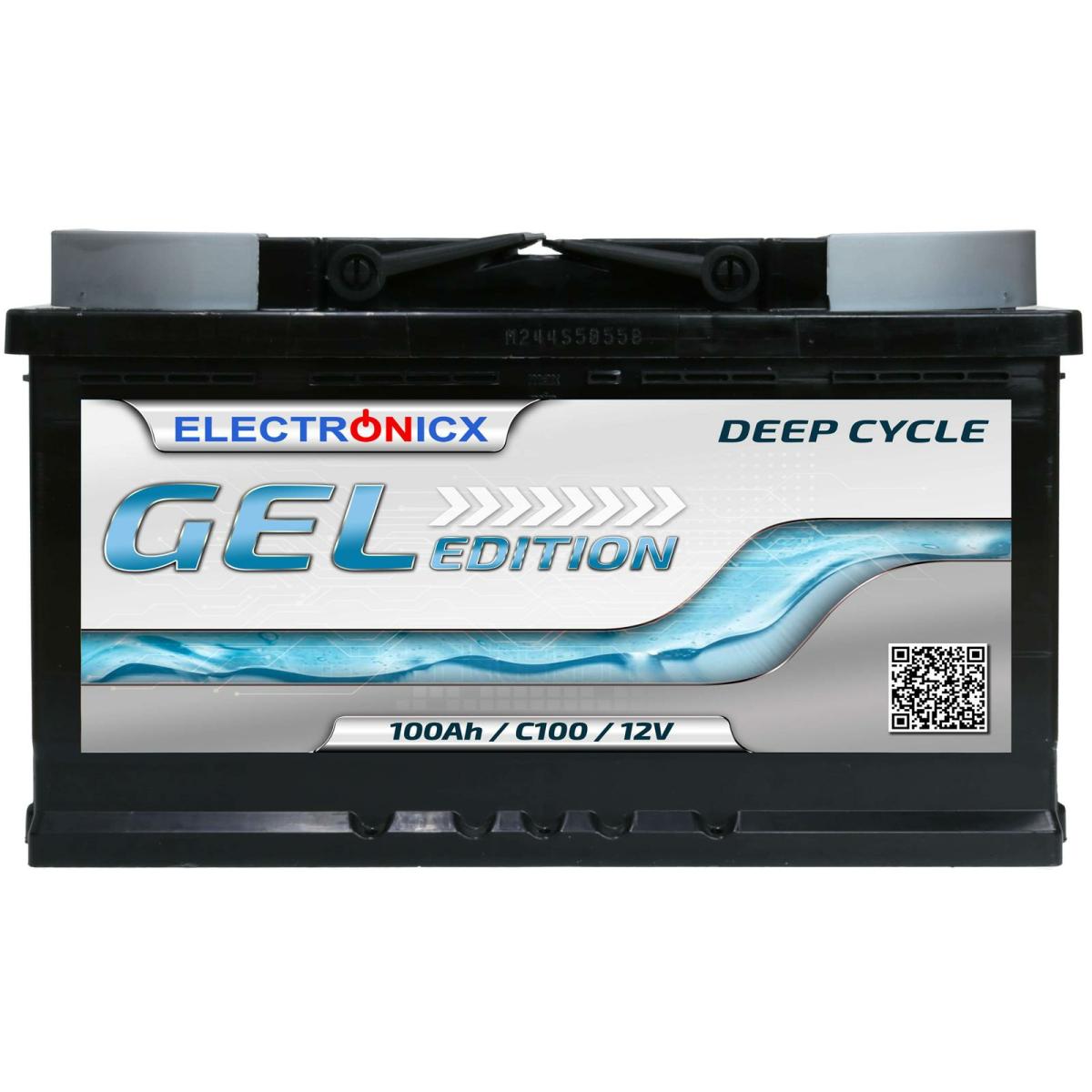 Electronicx Edition GEL Batterie 100 AH 12V  Versorgungsbatterie Freizeit Akku