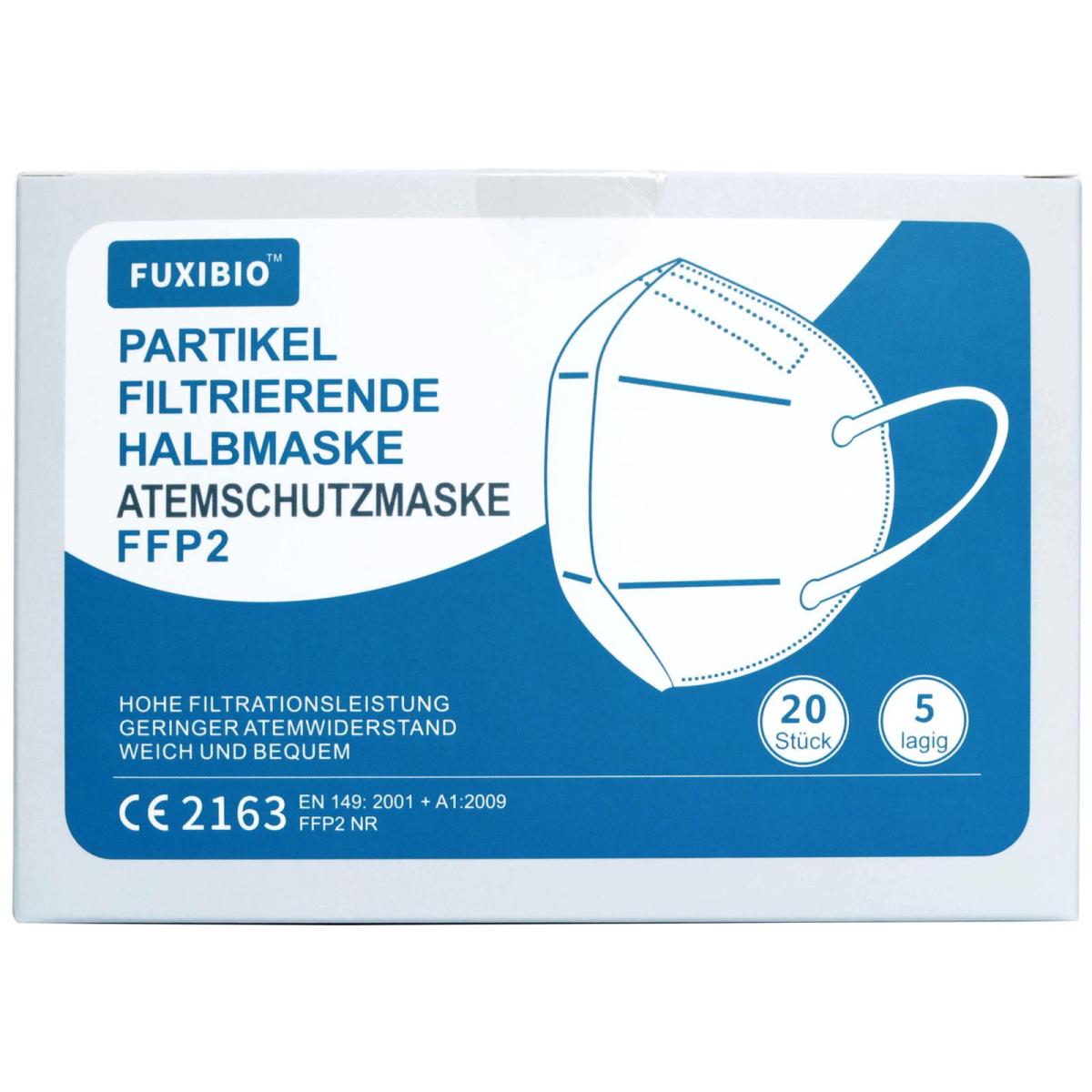 100x FFP2 Atemschutzmaske Mundschutz Maske Gesichtsmaske 5-Lagig weiß CE2163 EN