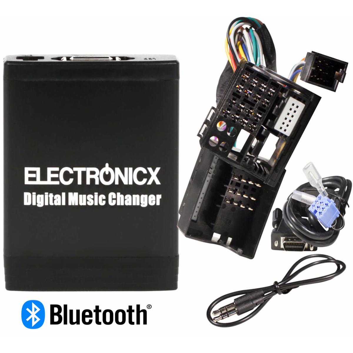 Adapter USB SD MP3 AUX Bluetooth Freisprechanlage Renault 12 Pin
