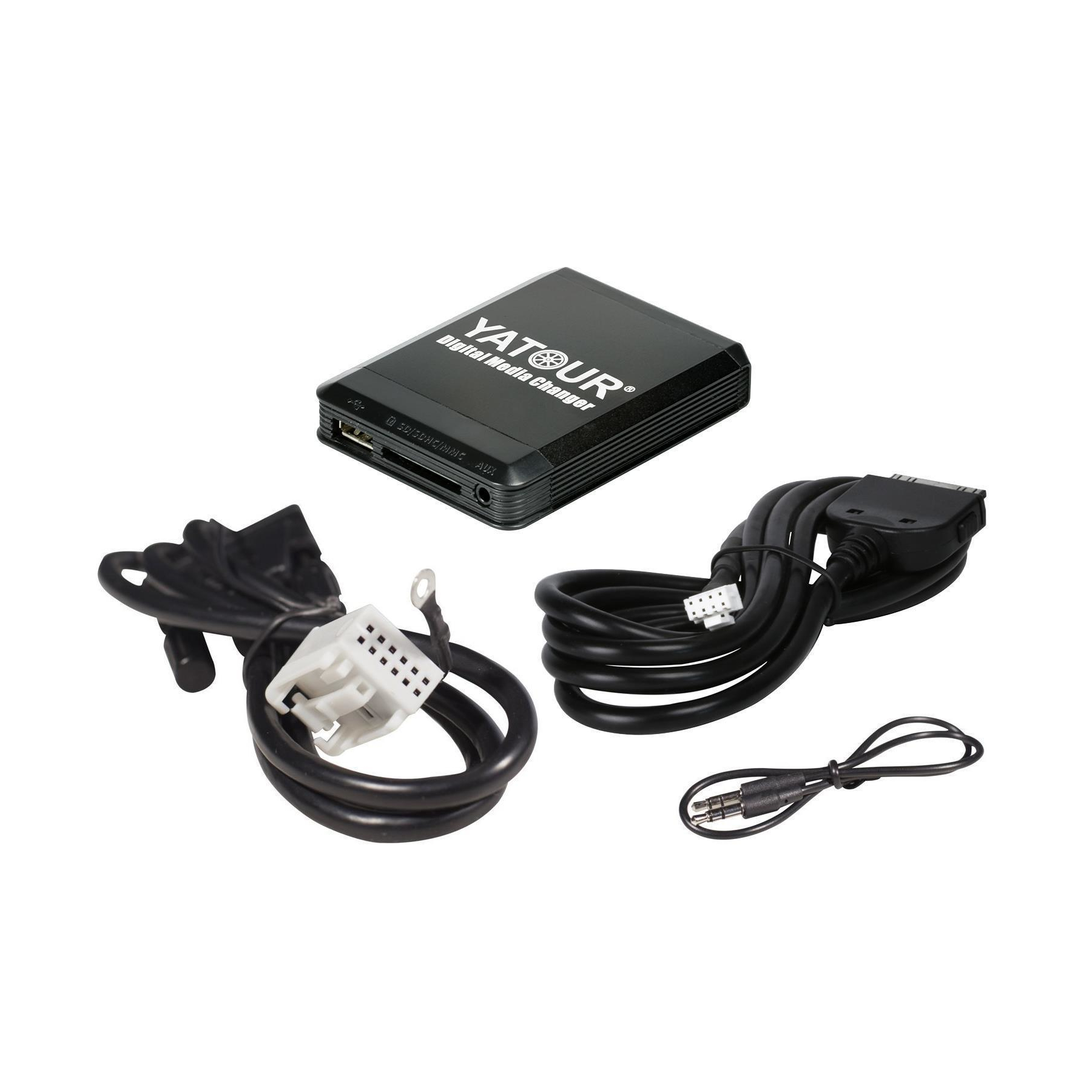Yatour USB SD iPhone iPod iPad AUX Adapter VW, Audi, Seat Skoda + Ausbauhaken